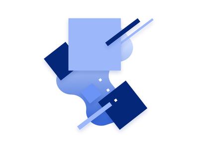 Strive Illustrations shapes gradient geometric minimal illustration