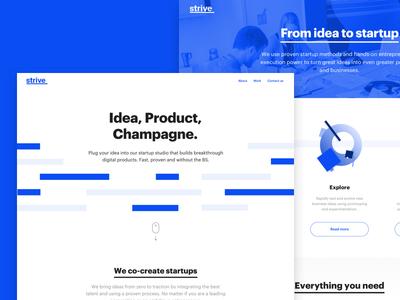 Strive Marketing Website stripe line digital tech swiss minimal ux ui webdesign