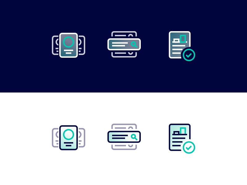 Fintechdb Iconstyle branding brand database fintech rounded outline gradient minimal icon
