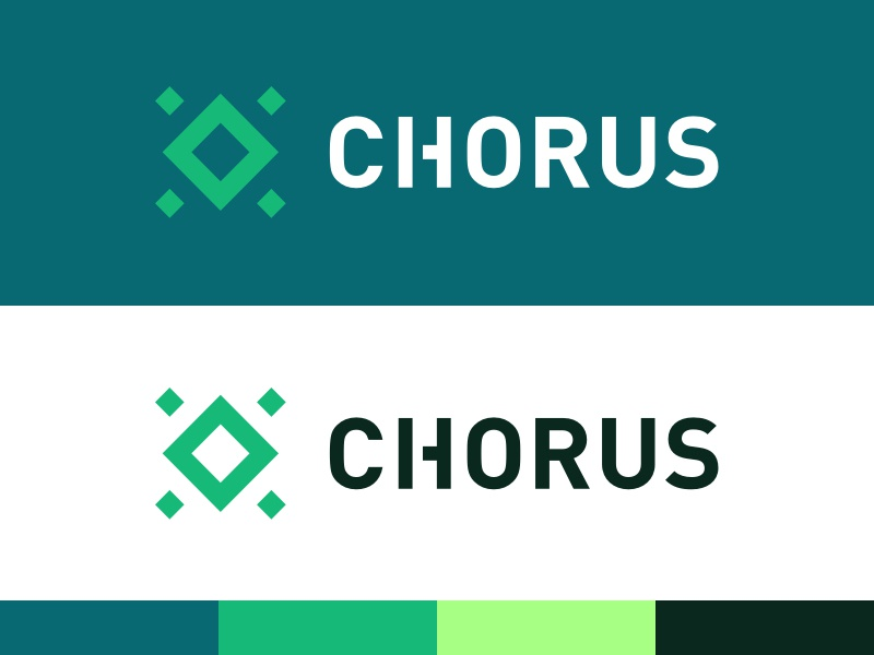 Chorus One Brand brand logo branding chorus blockchain fintech tech geometrical minimal