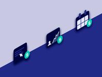 Fintechdb Isometric icons