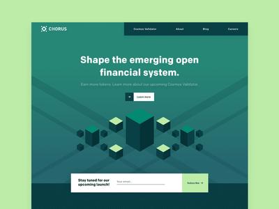 Chorus One Landing Page branding illustration isometric blockchain webdesign ux ui landing