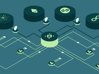 Chorus Illustration blockchain crypto bitcoin 3d vector isometric illustration