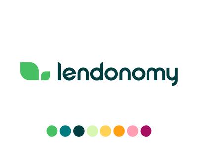 Lendonomy Logo ios icon startup fintech ux ui mobile design app logo brand