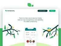 Lendonomy Landing Page