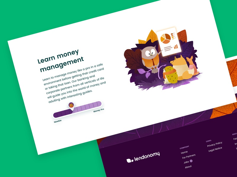 Lendonomy Landing Page branding product branding marketing fintech app desktop landing page illustration landing page webdesign ux ui