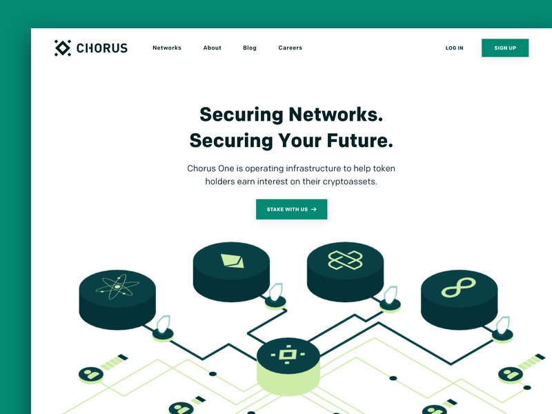 Chorus Landing Page fintech blockchain 3d illustration webdesign branding landingpage desktop ux ui web