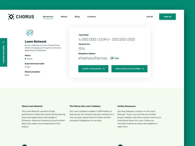Chorus Networks Page landingpage network blockchain branding webdesign desktop ux ui web