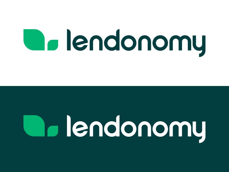 Lendonomy Logo identity typography logotype branding startup fintech lending minimal vector logo brand