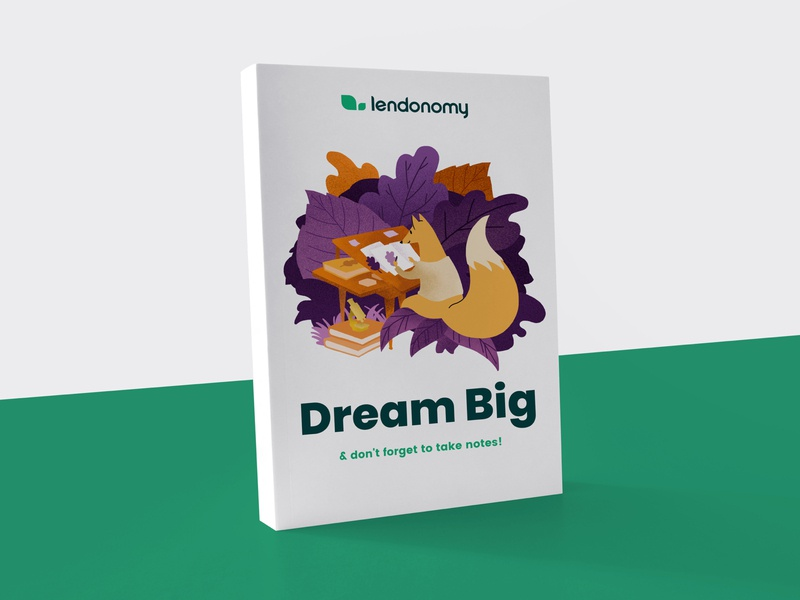 Lendonomy Booklet print illustration identity typography design editorial branding brand