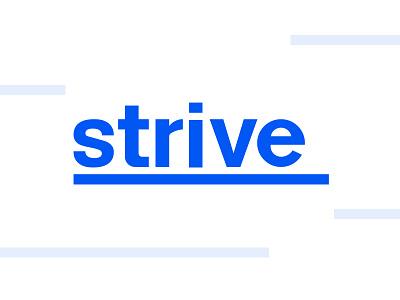 Strive Branding stripes logotype font minimal typography identity logo branding brand