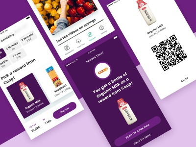 Lendonomy Reward System iphone ios minimal qr shopping rewards fintech startup app design app ux ui uidesign