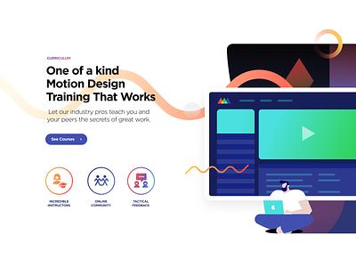 SOM Cirriculum agency web website ux ui animation motion designs graphic designer schoolofmotion som design