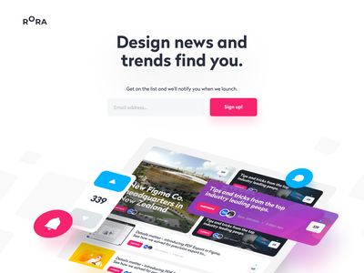 Rora - Sign up team agency product unfold best latest feed community trends news design designers designer rora