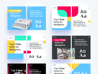 Unfold IG Carousels trends overlap colors layout logo branding community tricks tips typography socialmedia marketing pitch deck slides carousel instagram