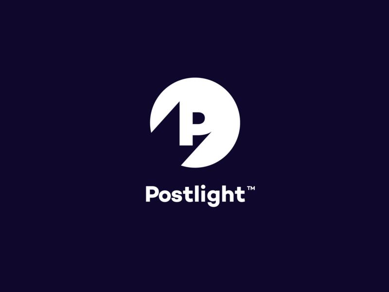 Postlight Logo v2 agency unfold source light branding logo postlight p letter p shadow