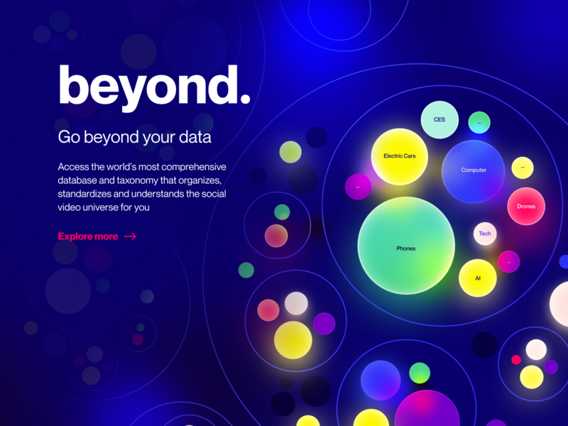 Tubular Data unfold explore piechart pie circles balls colorful shine illumination glow ios14 stats video tubular