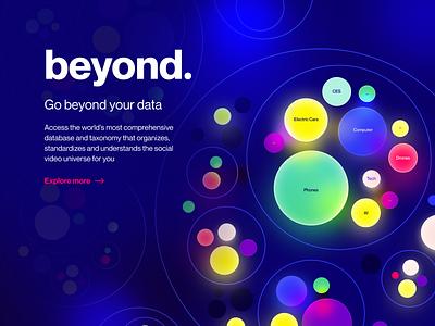 Tubular Data unfold explore piechart pie circles balls colorful shine illumination glow ios14 stats video tubular