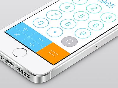 iOS7 Calculator ios7 iphone ios calculator numbers 5s redesign keypad