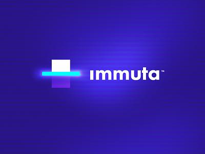 Immuta Logo agency unfold copier copy business legal document scan glow branding logo immuta