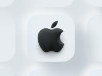 Apple not flat figma shadow lighting neuomorphic skeuomorphic ios14 ios 3d logo apple