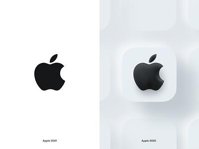 Apple not flat neuromorphic app illustration website bite branding soft 3d iconset icons big sur figma shadow lighting neuomorphic skeuomorphic ios14 ios 3d logo apple