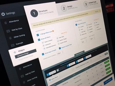 MB Widget website settings widget web app structure design filter advanced live preview dashboard