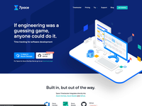 7pace Website (LIVE) typography homepage web unfold illustrations icons app devops azure pace 7pace logo branding tracking time development design website