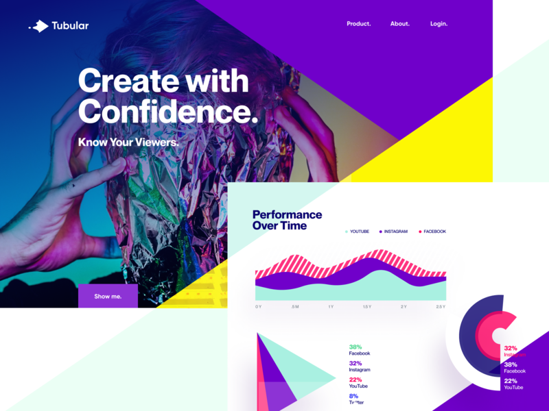 Tubular Concept 2 agency unfold webapp app reports dashboard stats charts graphs performance tracking video ux ui design website design website tubular