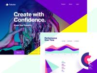 Tubular Concept 2 agency unfold webapp app reports dashboard stats charts graphs performance tracking video ux ui design website design website tubular