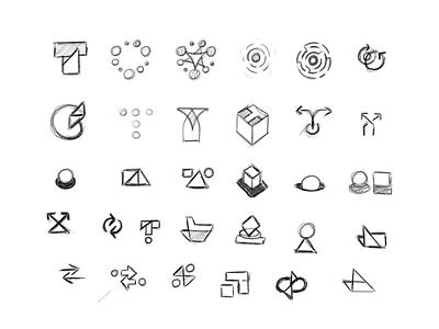 Testmo sketches agency ux ui unfold design website blocks shapes letter sketches branding logo webapp app testing