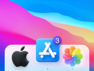 3 Big Icons badge notification macos colorful iconset pictures photos soft 3d appstore apple icons big sur