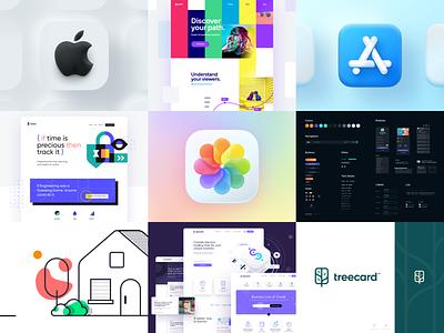 Top Nine of 2020 homepage ux ui unfold design apple illustration logo brand branding app web website nine top topnine