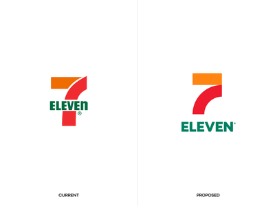 7-Eleven Brand agency branding design unfold intercection store travel eleven seven 711 road redesign branding logo 7-eleven