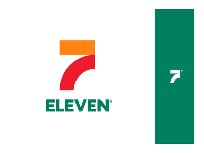 7-Eleven Brand agency branding design unfold intercection store travel eleven seven 711 road redesign branding logo 7-eleven