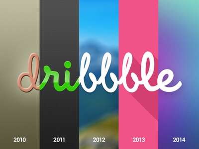 Dribbble 5 dribbble birthday celebrate trends evolution progress long shadow translucent illustration playoff