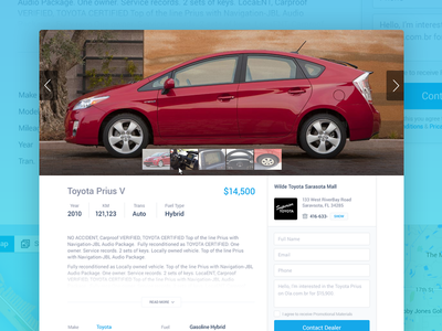 XM Details car auto forsale vehicles listing buy sell webapp ui ux