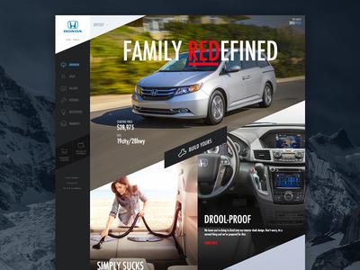 Odyssey Van van honda odyssey family vacuum slanted webdesign design ui ux vehicle car