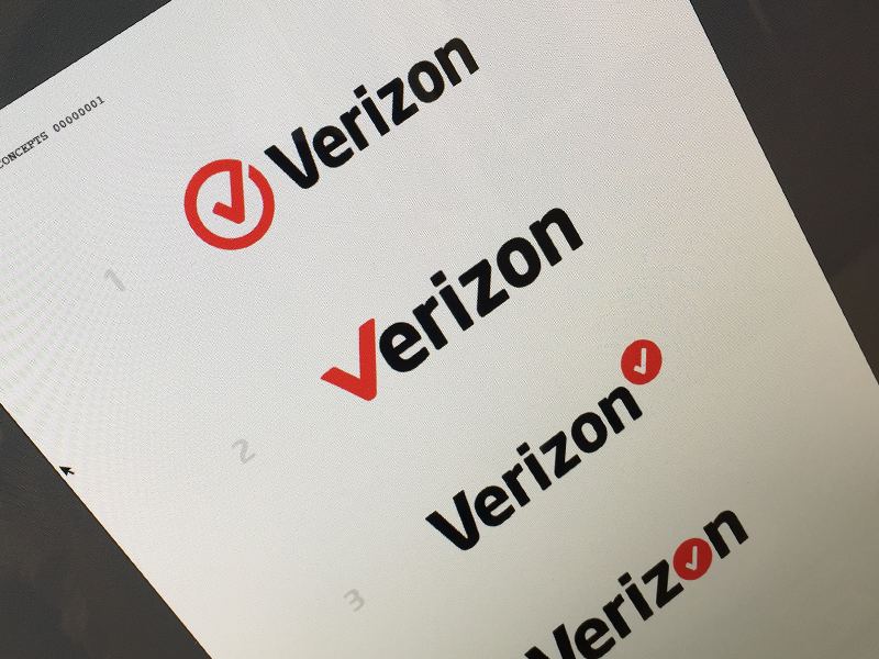 Verizon Logo service phone mobile cell v check red 2015 new branding logo verizon