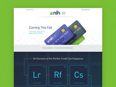 NIH Cards periodic table elements icons creditcard website webdesign splash landing