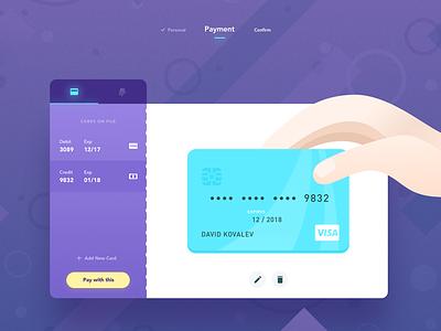 002 Checkout illustration hand process dailyui checkout credit card
