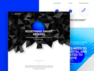 Cathcart Web render 3d icons tech technology manufacturing apparel ux ui website ball blue