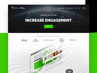 REV Publishers content graph engagement monetize ads advertisers publishers design ux ui website