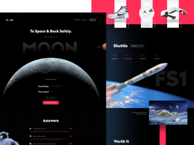 SPACED Playoff design website astronaut mars planet future travel moon rocket space spaced spacedchallenge