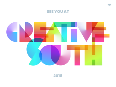 Creative South 2018 creativesouth peach georgia columbus conference team unfold gradients 2018 creative south cs18