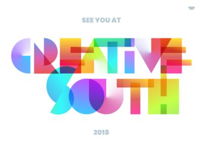 Creative South 2018 creativesouth peach georgia columbus conference team unfold gradients 2018 creative south cs18