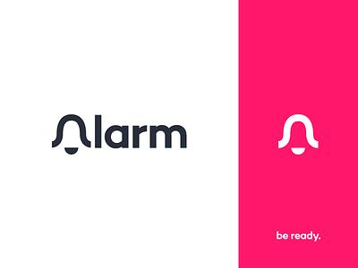 Alarm Logo alarm app notification alert emergency logo branding bell ring danger