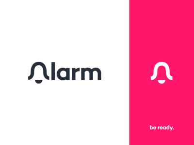Alarm Logo alarm app notification alert emergency logo branding bell ring danger