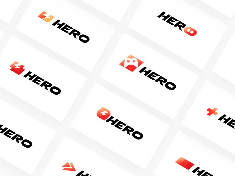 Hero Symbol Concepts unfold gaming brand branding logo hero