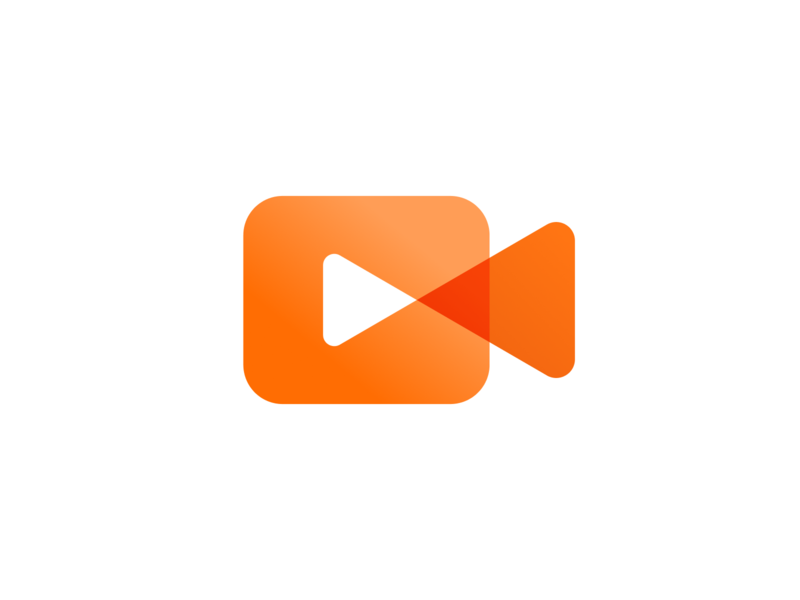 Video App Icon brand branding logo button camera icon camera play app video